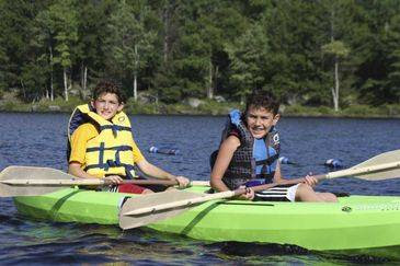 paddle boats canooing crossover basketball summer camp